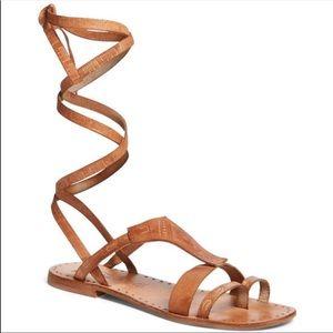 Black Free People Gladiator Sandals